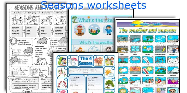 seasons worksheets worksheets and activities for teaching seasons to ...