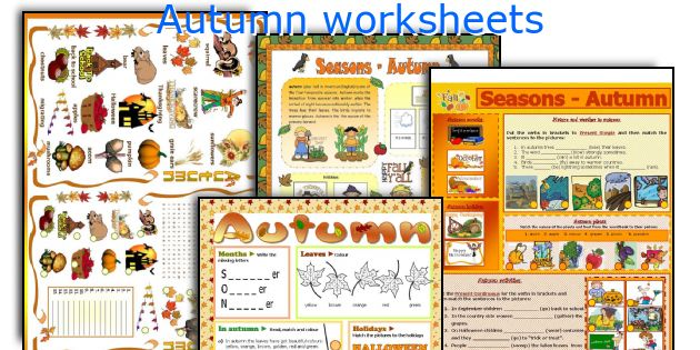 Autumn worksheets