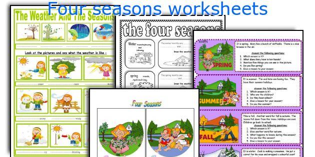 Four seasons worksheets