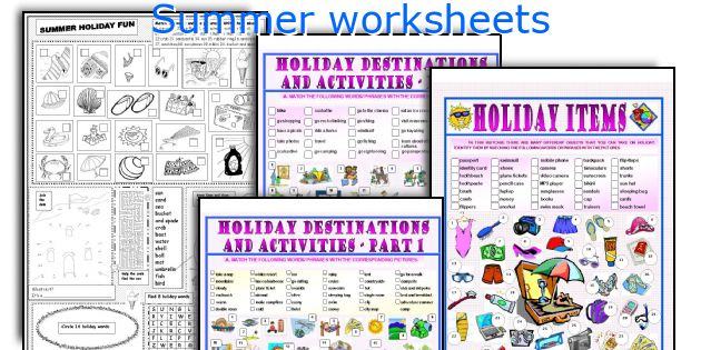 Summer worksheets