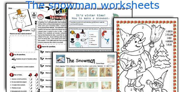 the snowman raymond briggs writing activity for second