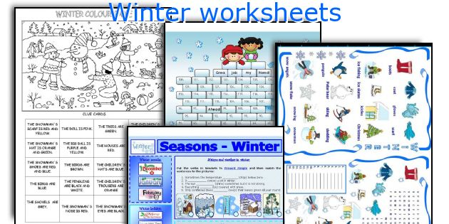 Worksheet english teaching worksheets winter winter worksheets