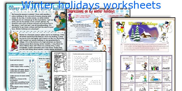 english teaching worksheets winter holidays. Black Bedroom Furniture Sets. Home Design Ideas