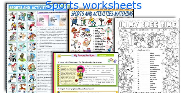 sports worksheets. Black Bedroom Furniture Sets. Home Design Ideas