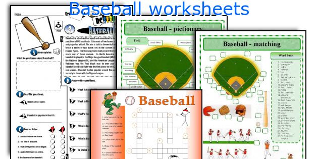 English teaching worksheets Baseball – Baseball Worksheets