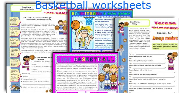 Basketball Worksheets