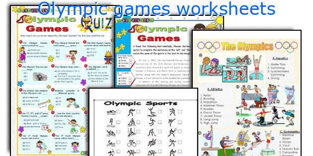 English teaching worksheets: Olympic games