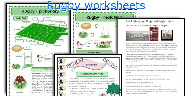 Rugby worksheets