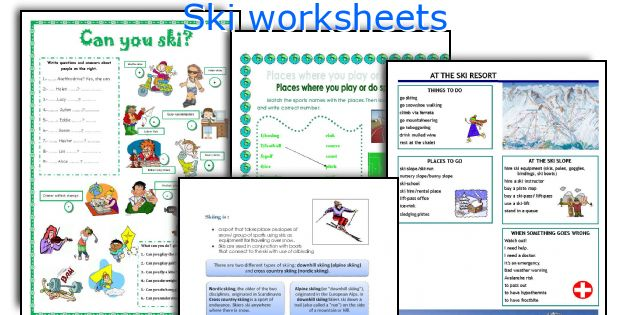 Ski worksheets