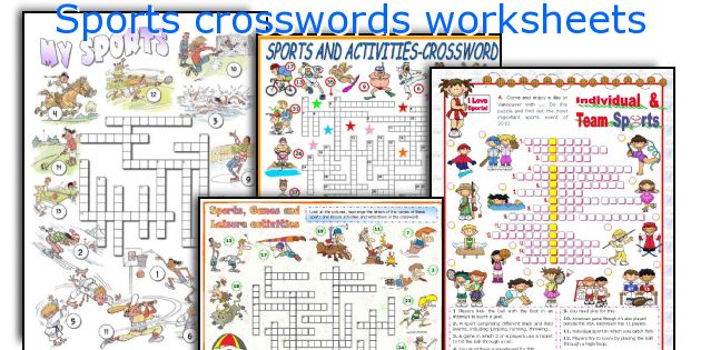 Sports crosswords worksheets
