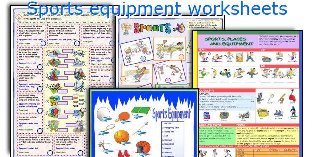 Sports equipment worksheets