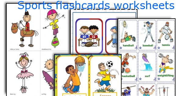 Sports flashcards worksheets