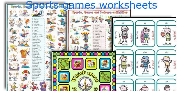Sports games worksheets