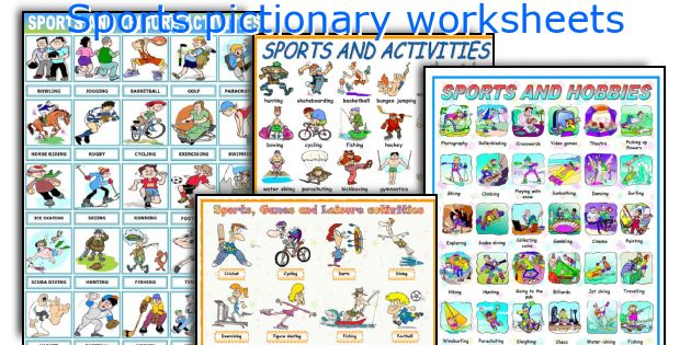 Sports pictionary worksheets