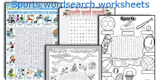 Sports wordsearch worksheets