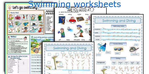 Swimming worksheets