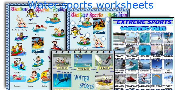 Water sports worksheets