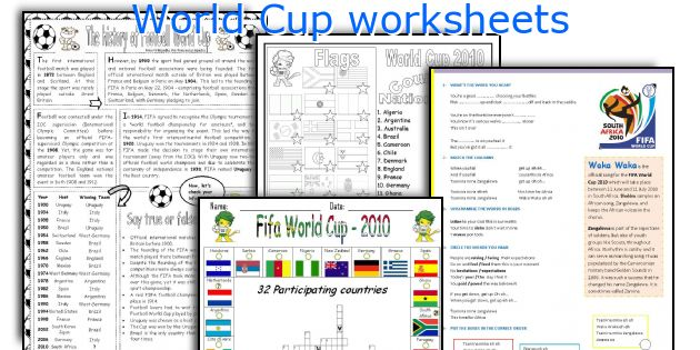 World Cup worksheets