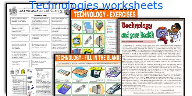 Technologies worksheets