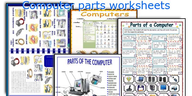 English teaching worksheets Computer parts – Computer Worksheets