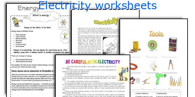 English teaching worksheets Electricity – Electricity Worksheets