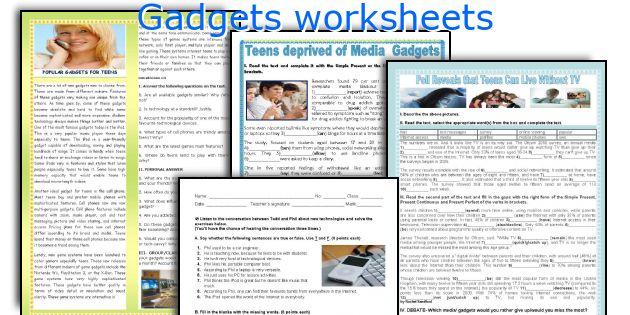 Gadgets worksheets