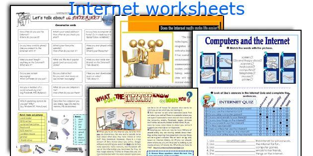 Internet worksheets