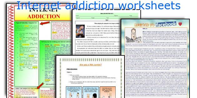 Internet addiction worksheets