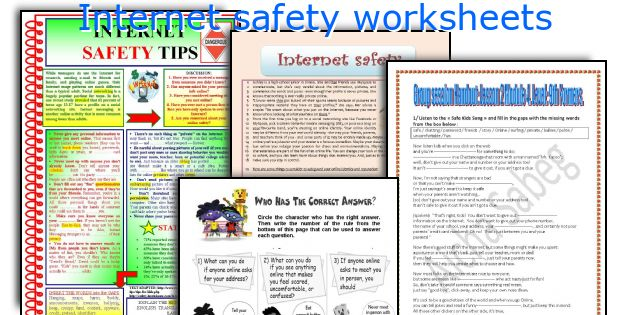 english teaching worksheets  internet safety