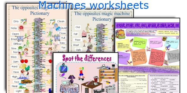 Machines worksheets