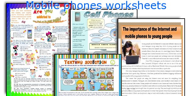 Mobile phones worksheets