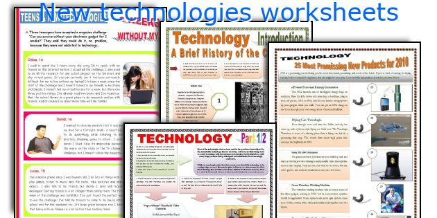 New technologies worksheets