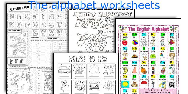 The alphabet worksheets