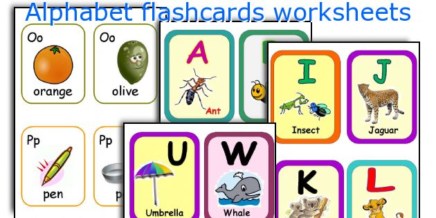 Alphabet flashcards worksheets