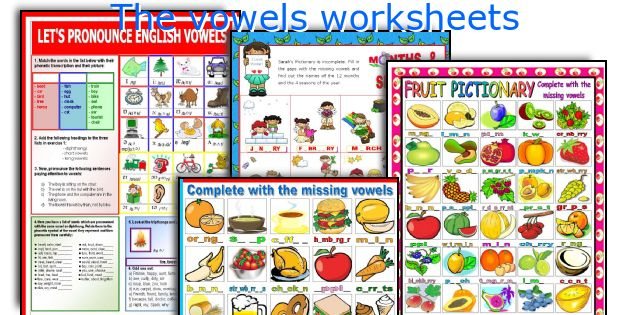 English teaching worksheets: The vowels