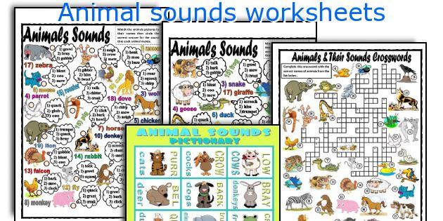 Animal sounds worksheets