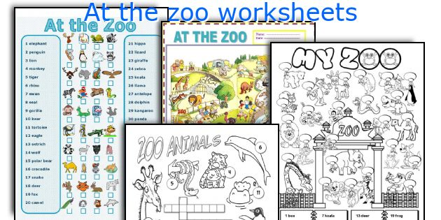 At the zoo worksheets
