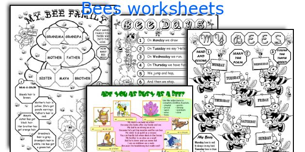 Bees worksheets