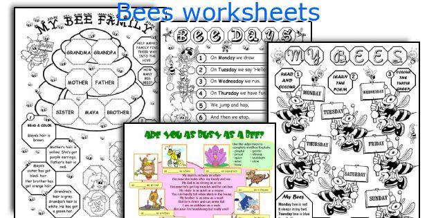 Bees worksheets