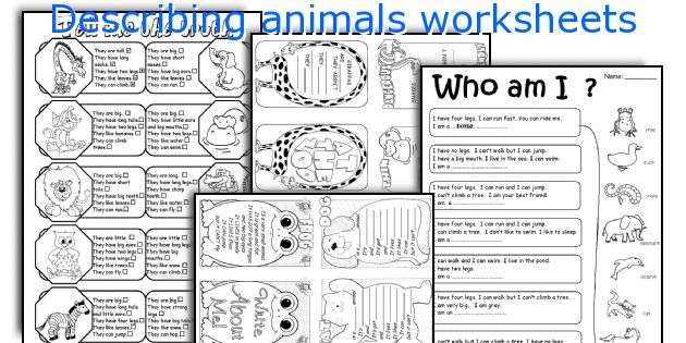 describing animals worksheets worksheets and activities for teaching ...