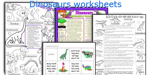 Dinosaurs Worksheets. Worksheet. Dinosaurs Worksheets At Mspartners.co