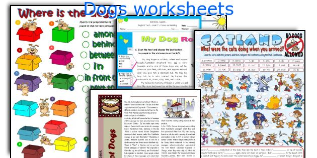 Dogs worksheets