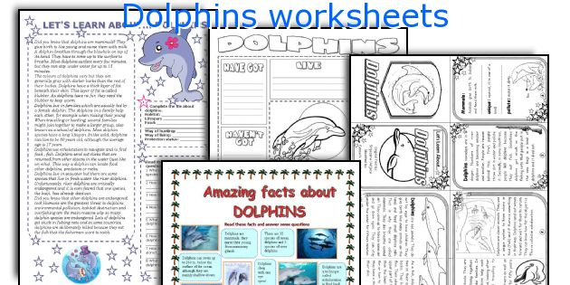 Dolphins worksheets