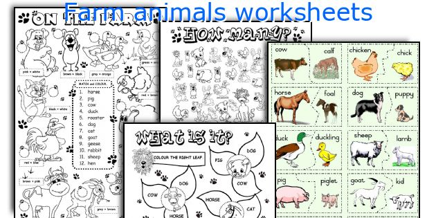 For Young Learners: Farm Animals Coloring Worksheets, Farm Animals ...