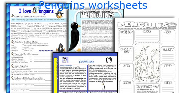 Penguins worksheets