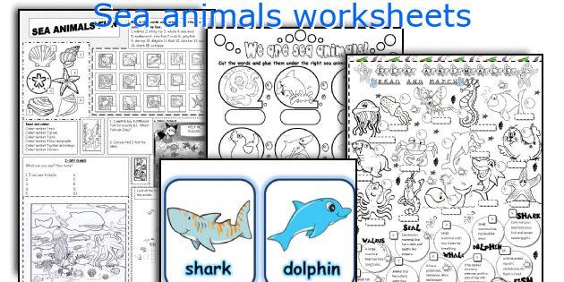 sea animals worksheets. Black Bedroom Furniture Sets. Home Design Ideas