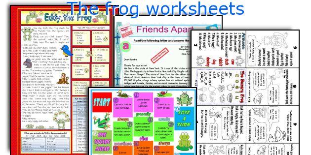 The frog worksheets