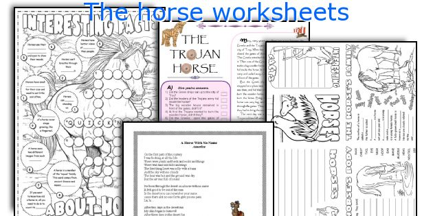 The horse worksheets