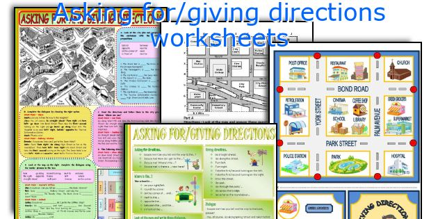 Asking for/giving directions worksheets
