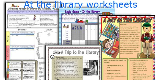 At the library worksheets